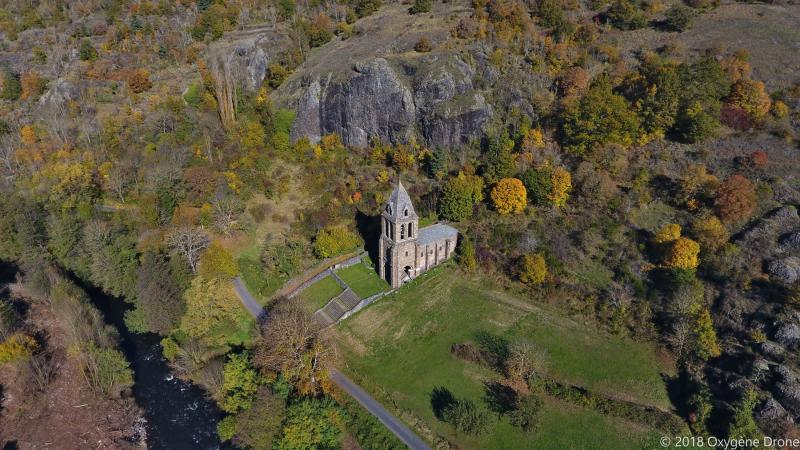 La chapelle Sainte-Marie-des-Chazes dans le Haut allier