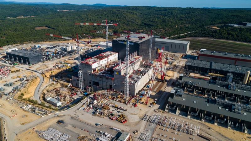 Chantier ITER à Cadarache