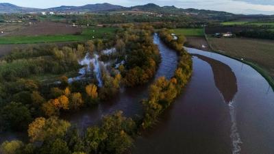 Clermont-Ferrand : Crue de l'Allier du 24 novembre 2019