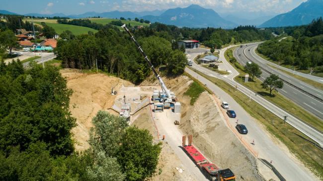 Annecy : Col d'Évires - Suivi d'une opération Colas