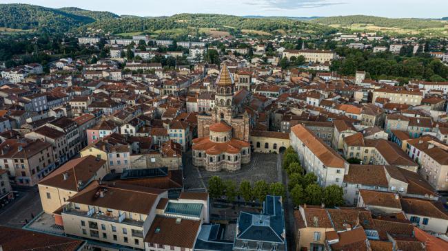 Brioude : Basilique - Images pour le département de la Haute-Loire