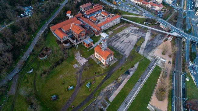 Saint-Étienne : Puits Couriot - Image aérienne du Puits Couriot à Saint-Étienne