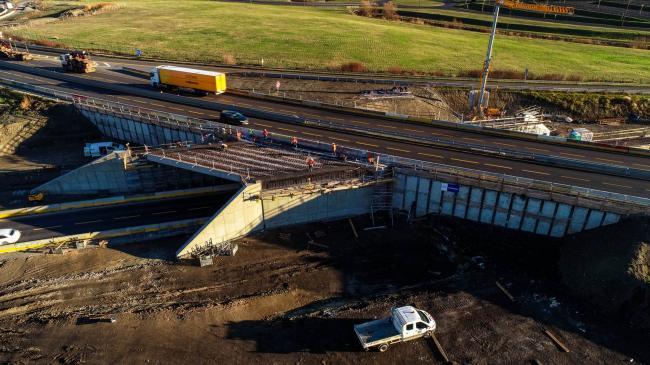 Chantier élargissement de l'A75 - Suivi de Chantier sur l'autoroute A75