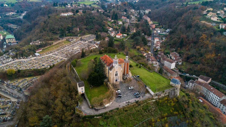 Vienne : Ville de vienne - Images aériennes drone en Isère