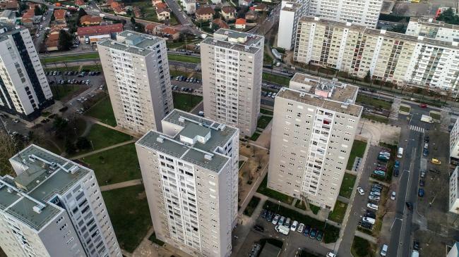 Lyon : Venissieux - Images aériennes drone à Lyon