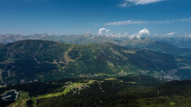 Méribel : Col de la Loze - Tournage pour France TV
