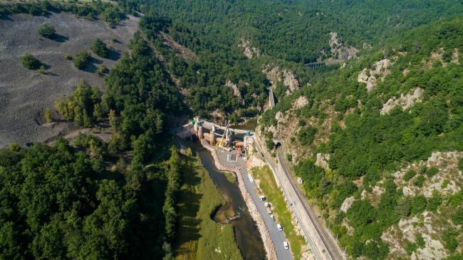 Puy en Velay : Barrage de Poutes - Démantèlement du barrage de poutes