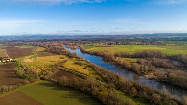 Saint-Étienne : Bocages de la Loire - Images aériennes drone dans la Loire