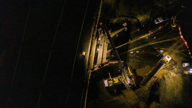 TOARC SUD NGE : A75 Diffuseur 5 (Orcet) - Vol de nuit en drone