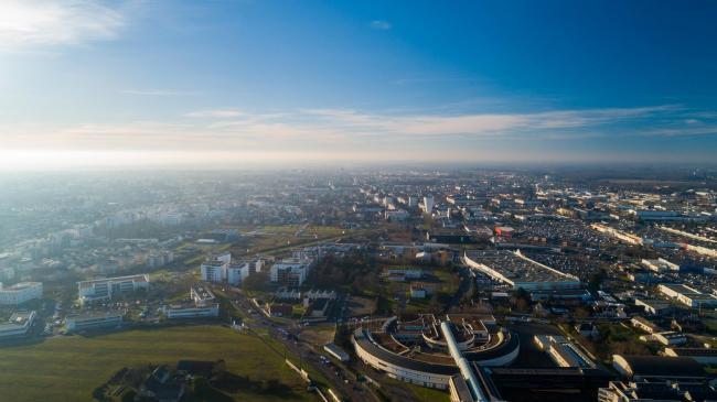 Tours : Ciné Loire - Prises de vues aériennes par drone du Ciné Loire à Tours