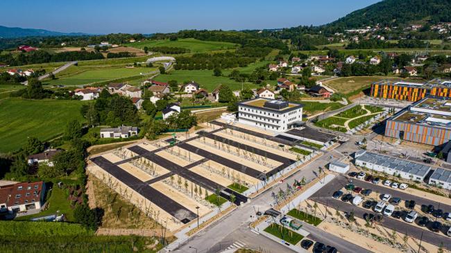 Voiron : Chantier du Nouvel Hôpital - Vallorisation de savoir-faire à Voiron